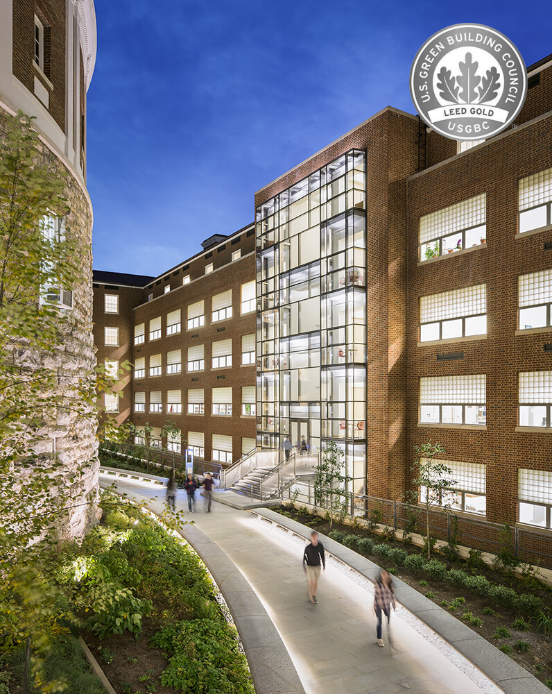 UVA's New Cabell Hall Wins Two USGBC Awards
