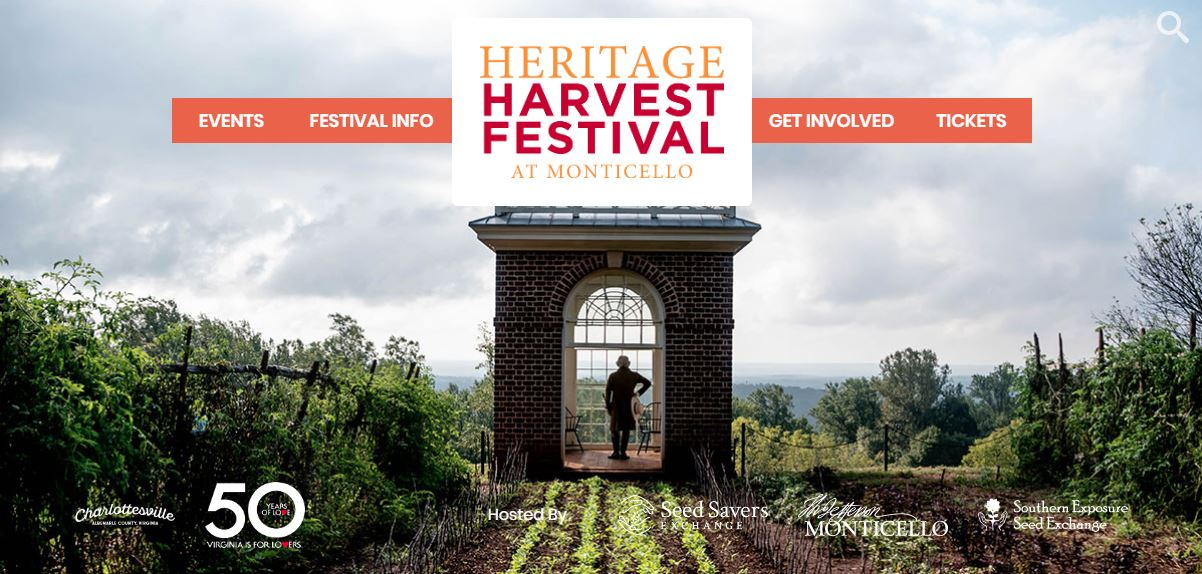 Sept 21 | Thomas Jefferson's Monticello 2019 Heritage Harvest Festival