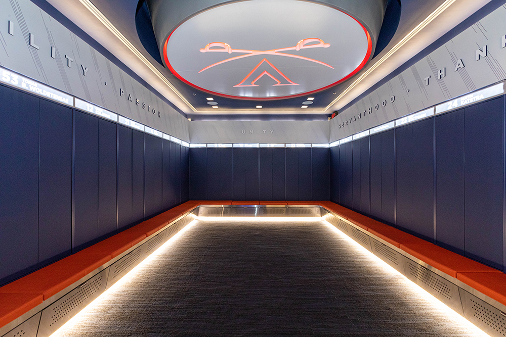 UVA JPJ Arena Men's & Women's Basketball Locker Room Renovations